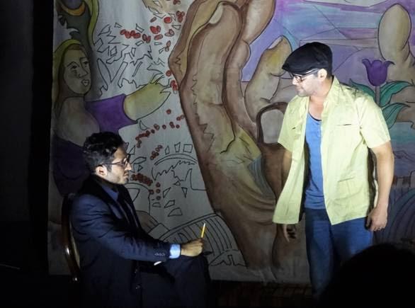 Calce: Omar Torres (izquierda) y José Brocco (derecha) protagonistas de Mural-Espejo