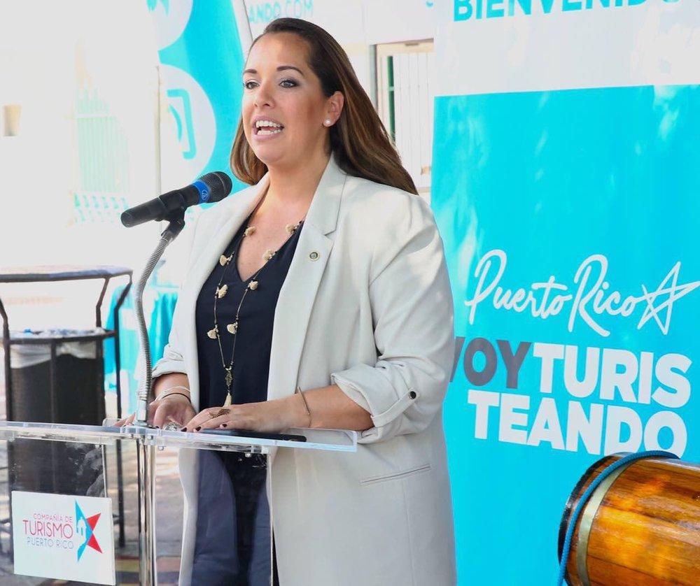 Directora Ejecutiva de la Compañía de Turismo, Carla Campos.