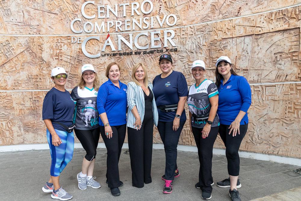 El equipo de Merck visitó al Centro Comprensivo de Cáncer como parte de la iniciativa.