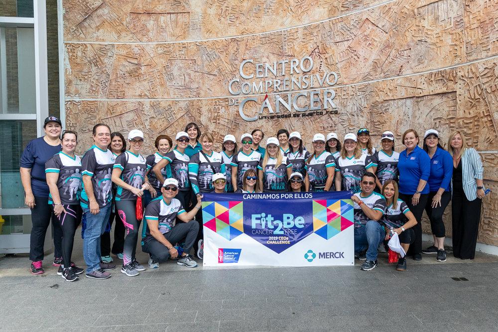 El equipo de Merck se unió a la iniciativa realizando una caminata por los predios del Centro Médico