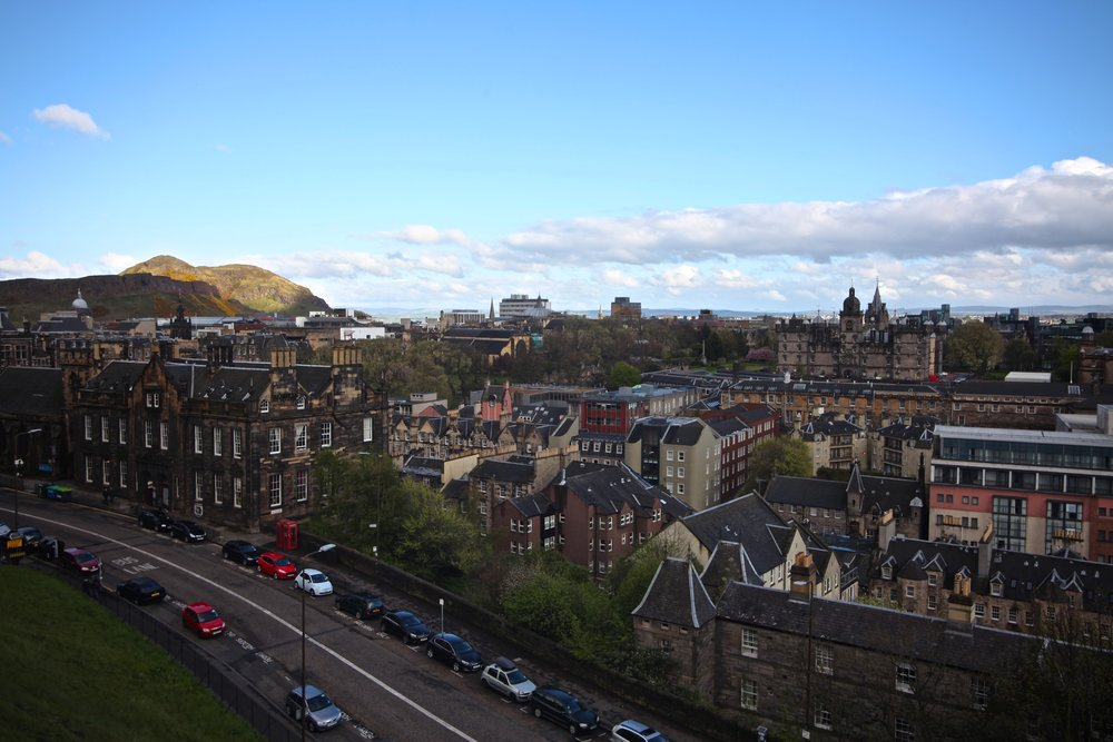 View of Arthur's Seat from The Edinburgh Castle   Castlehill, Edinburgh EH1 2NG, UK