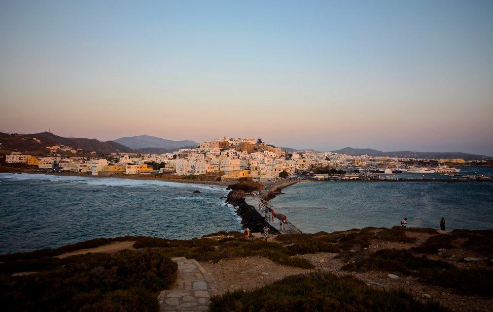 View from  Portara - Apollo Temple ,  Naxos