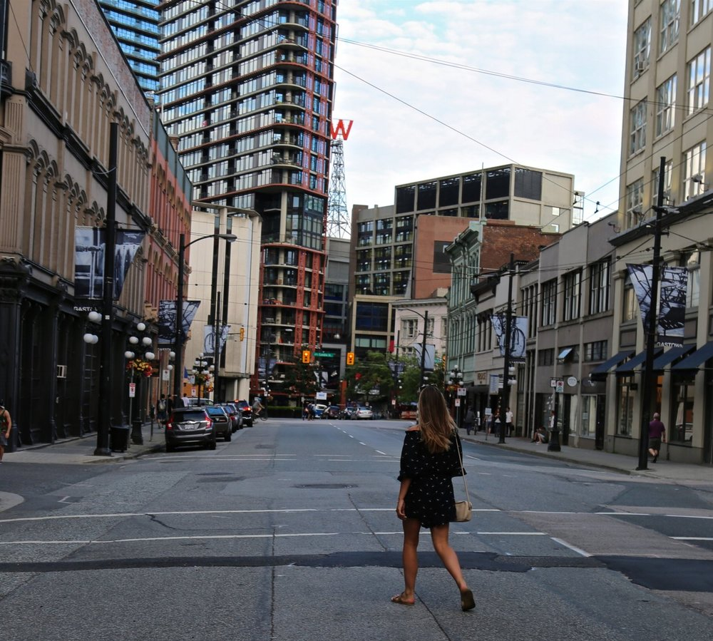 ~Happily exploring the streets of Vancouver earlier this Summer, before my full-time job.~