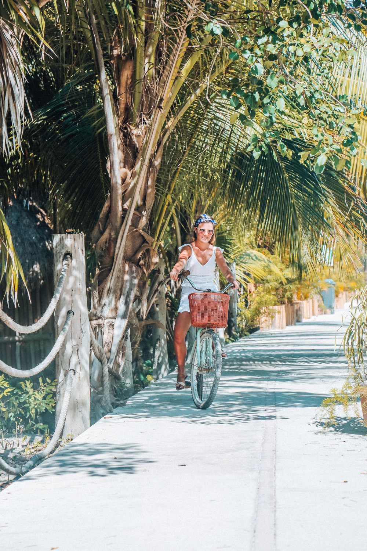 Biking to Tulum Ruins