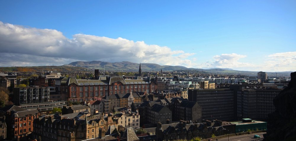 View from The Edinburgh Castle  Castlehill, Edinburgh EH1 2NG, UK