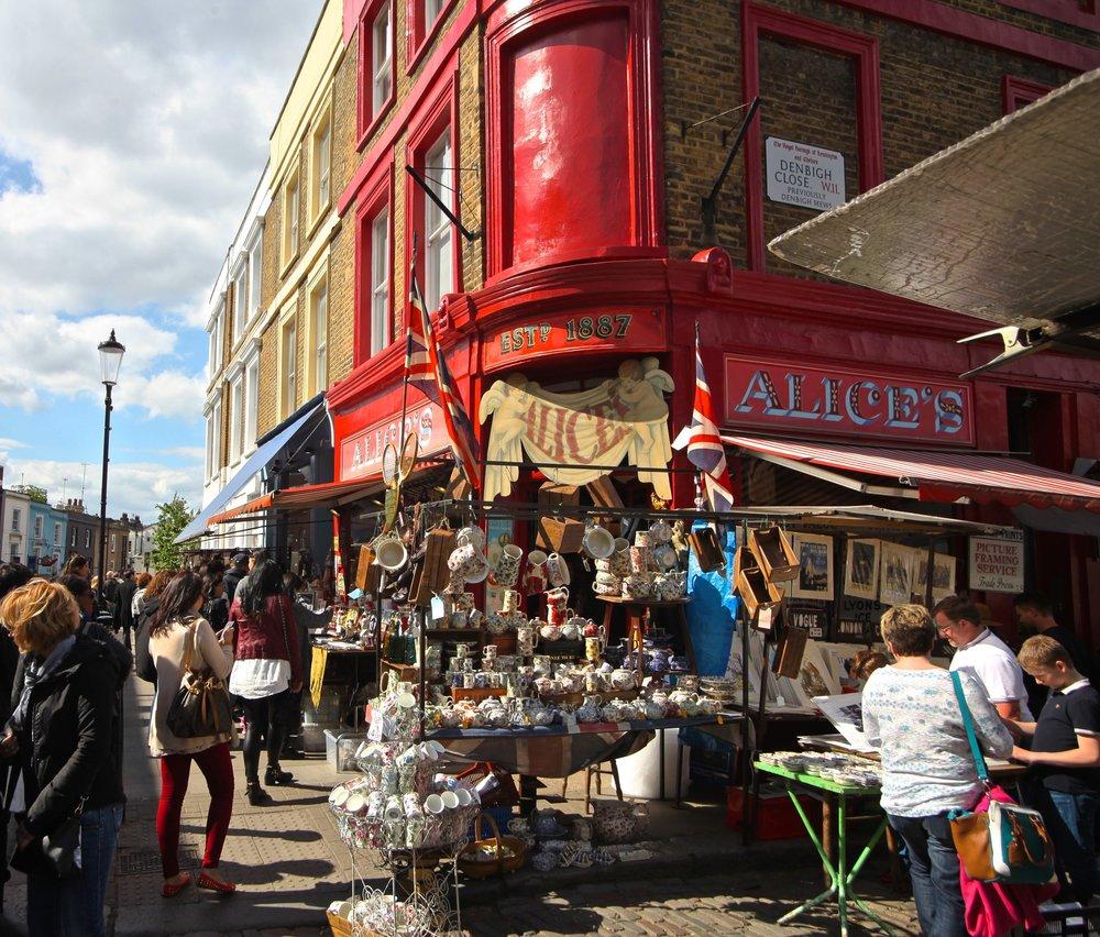 Portobello Road Market  London, England
