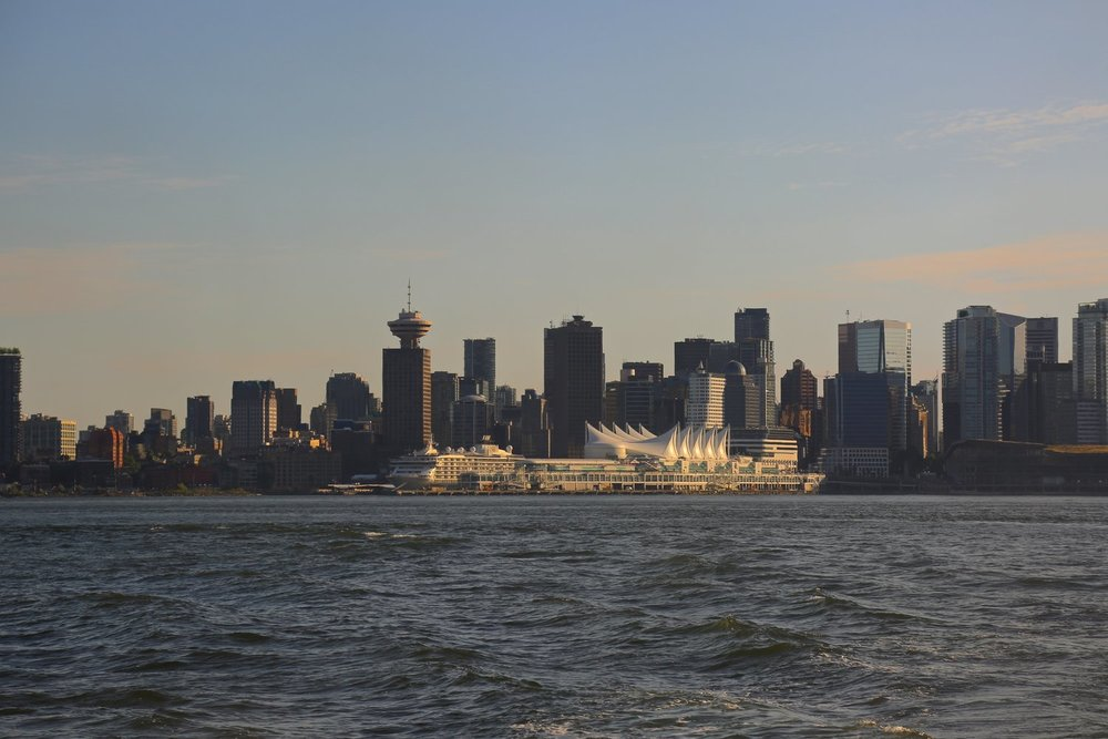 View from the Seabus to North Vancouver