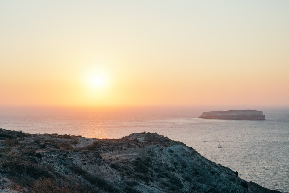 Sunset in Santorin