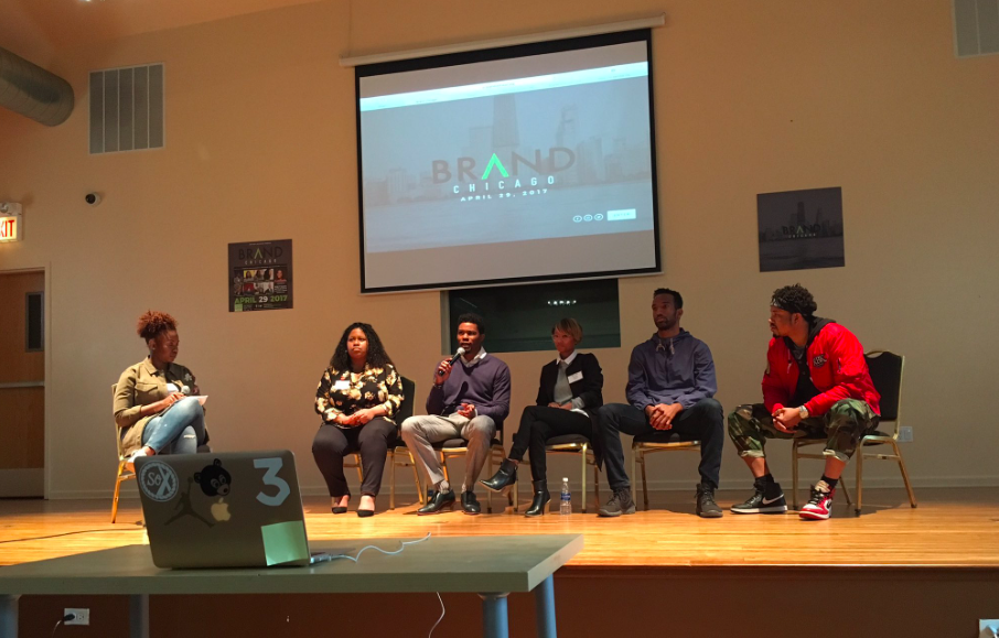 Brand Chicago - Power Panel  | Pictured (L - R): Brittany Applegate, Veronica Appleton, Will Dyson, Ashley Bryant, Nick Brown, and Julian Gilliam