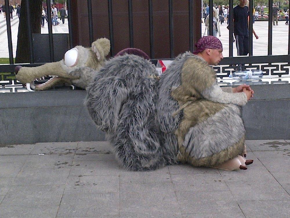 Outside the Kremlin.