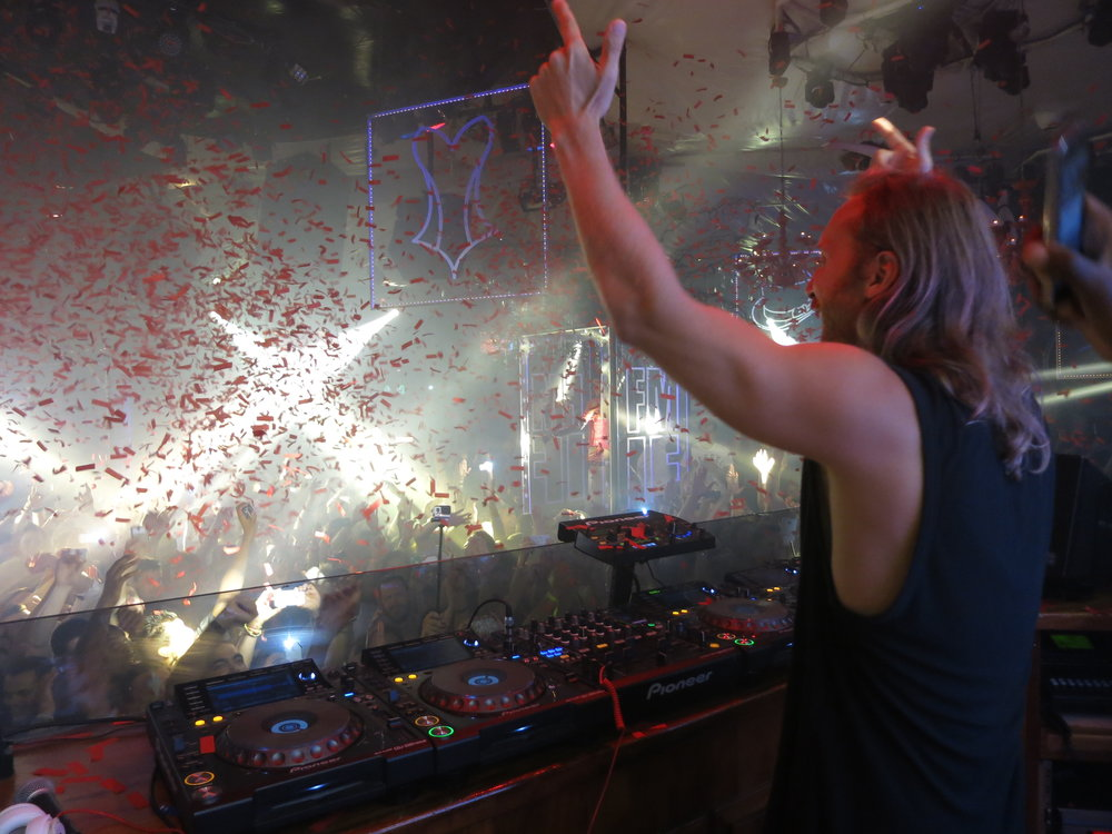 Onstage with Dave Guetta, Pacha/Ibiza.