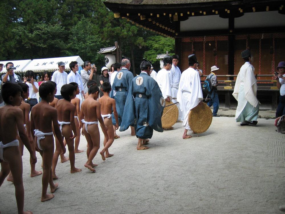 Crow sumo ceremony, Kyoto.