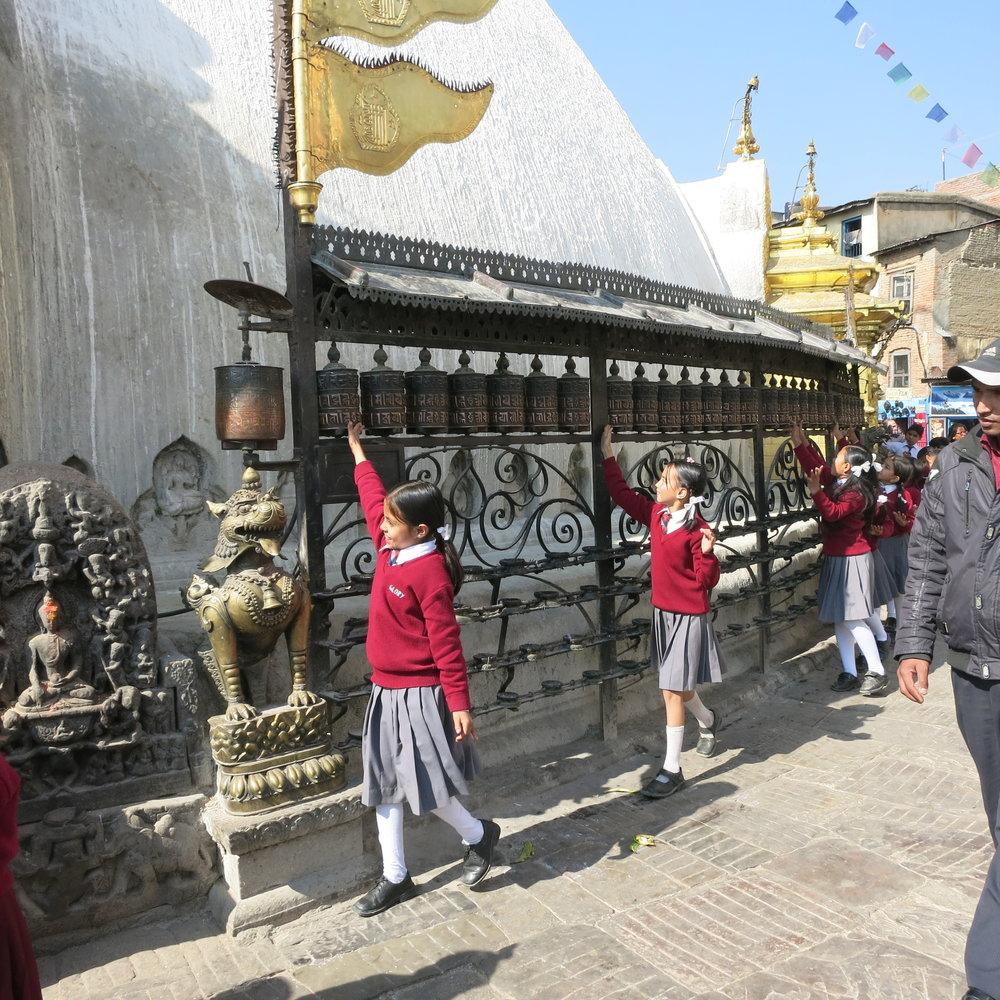 Swayambhunath Temple, Kathmandu.