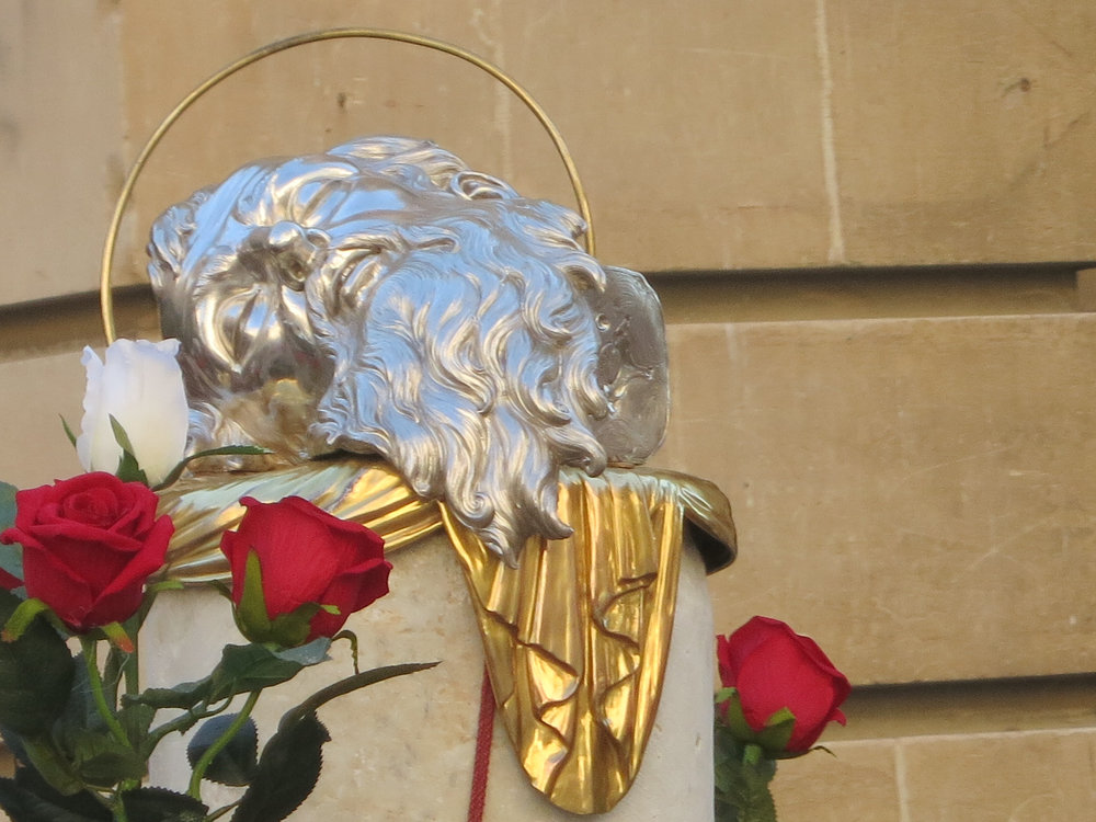The head of St. Paul pays its annual visit to the head of St. John the Baptist.