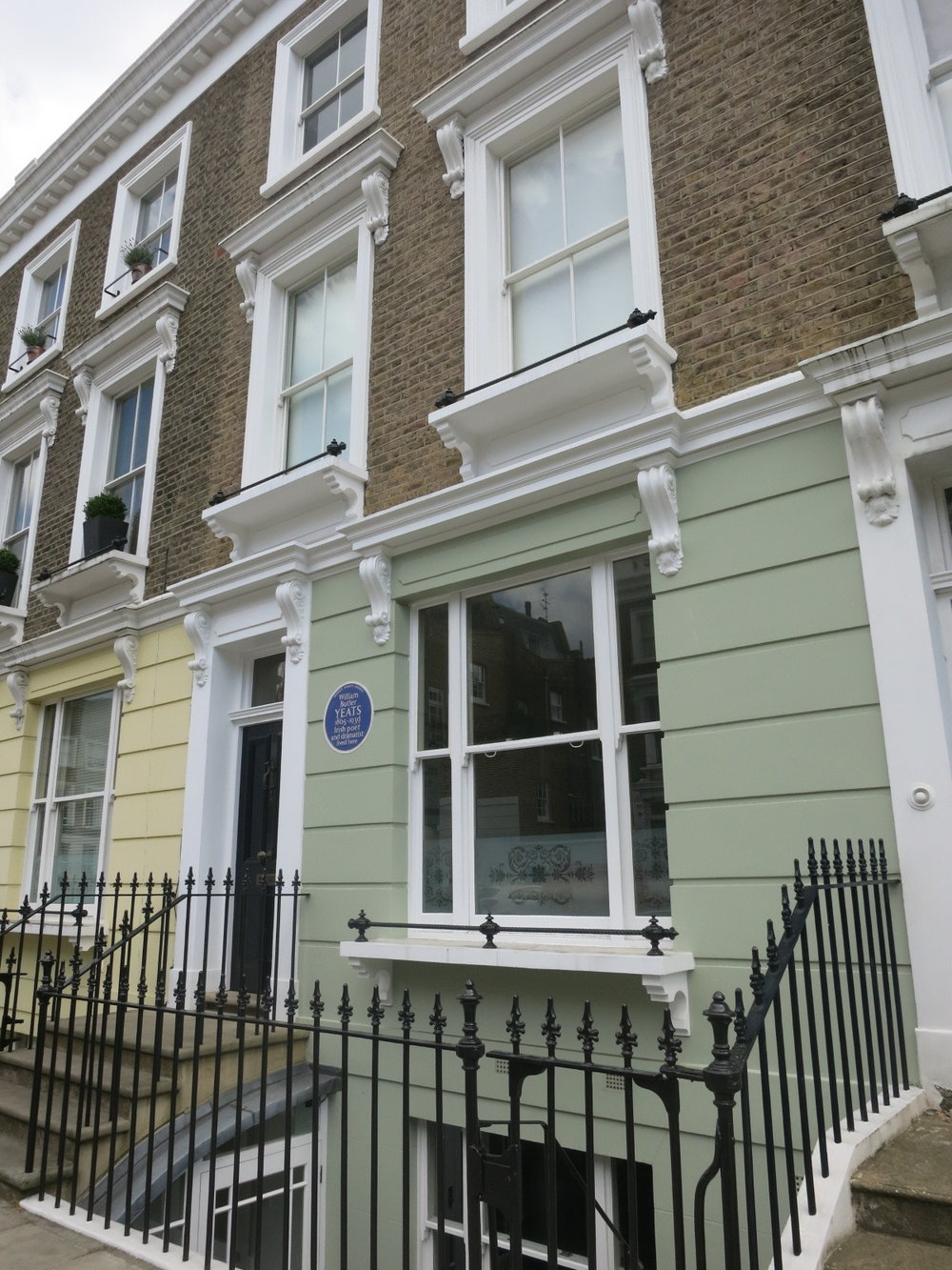 Plath's last home, the upstairs duplex at 23 Fitzroy Road, London