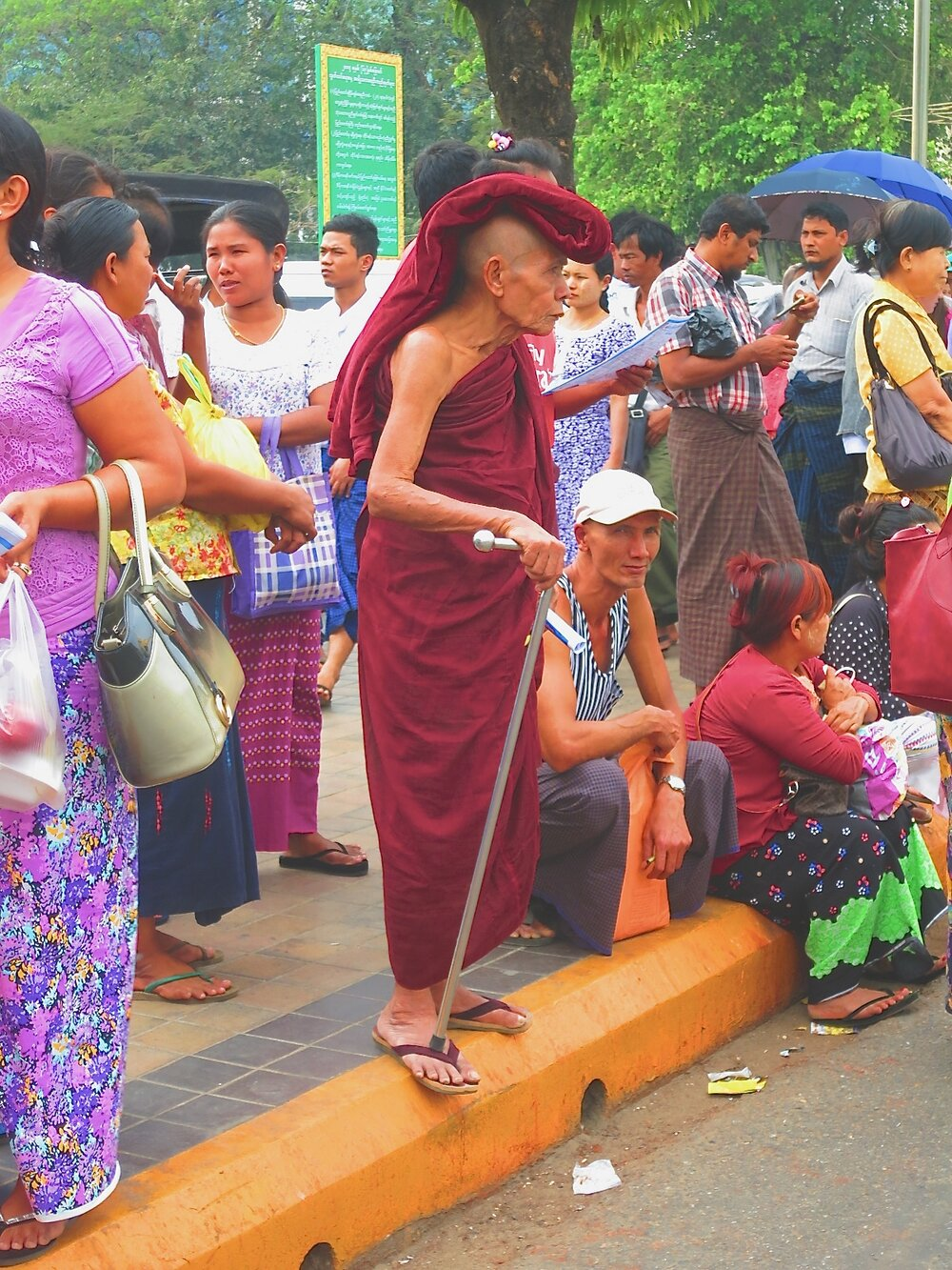 Street crossing, Yangon.