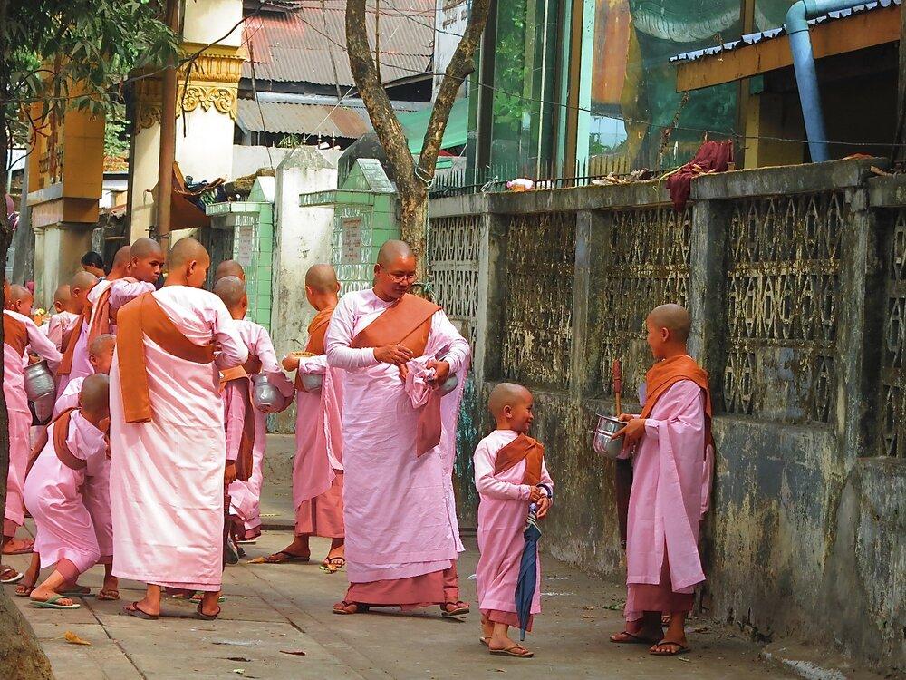 Child nuns of Myanmar.