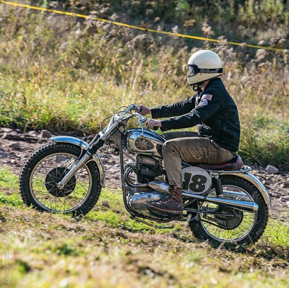 Shot back up to Monticello for the App Moto Jam Halloween Hillclimb. After the all the hours we put in working on these machines, nothing is more fun then kicking them over and riding the living daylights out of your bike with good company. We built this BSA three years ago, daily'd it for two years after a full rebuild, and now it's being used as an impractical dirt bike.
