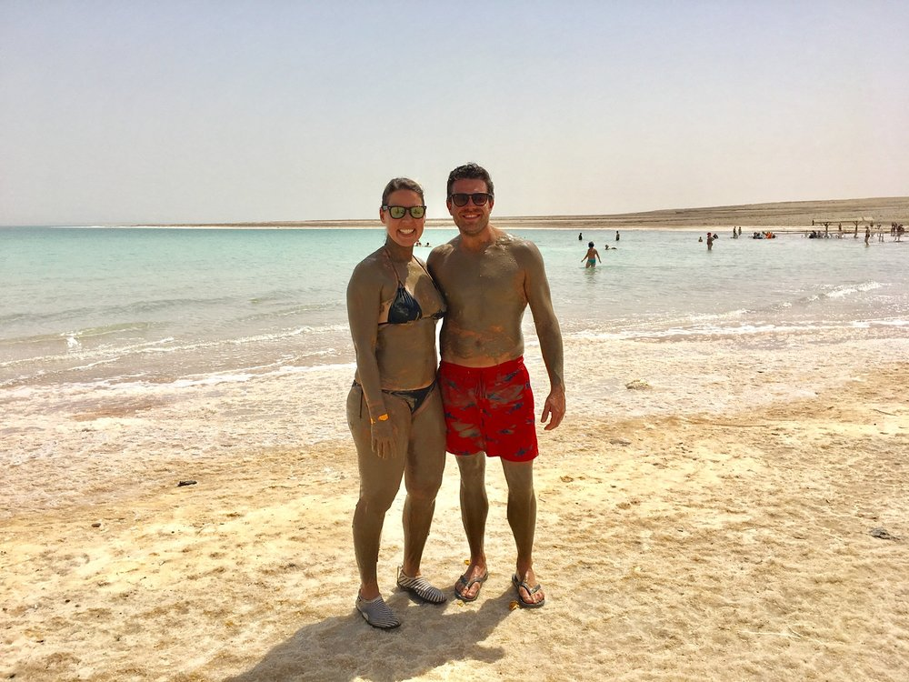 after our Dead Sea mud bath