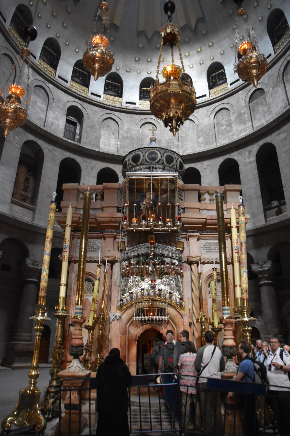 Jesus's tomb inside the Church of the Holy Sepulchre
