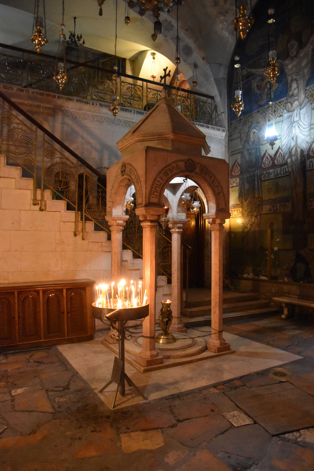 Alter where Mary watched the crucifixtion of Jesus