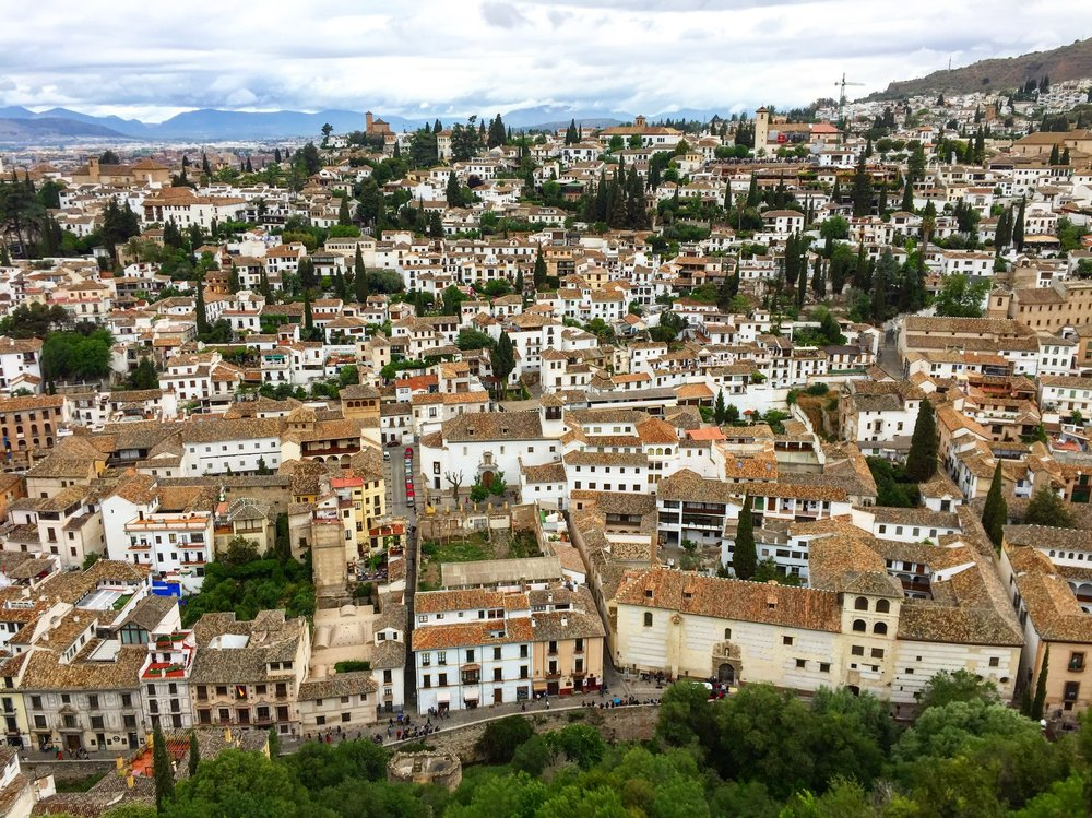 view over Granada as seen from The Alhambra