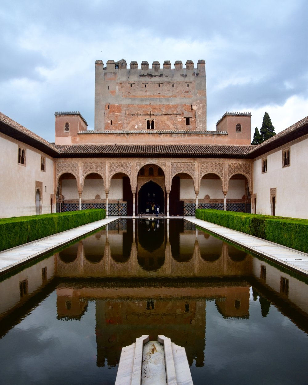 Reflecting pool at The Alhambra