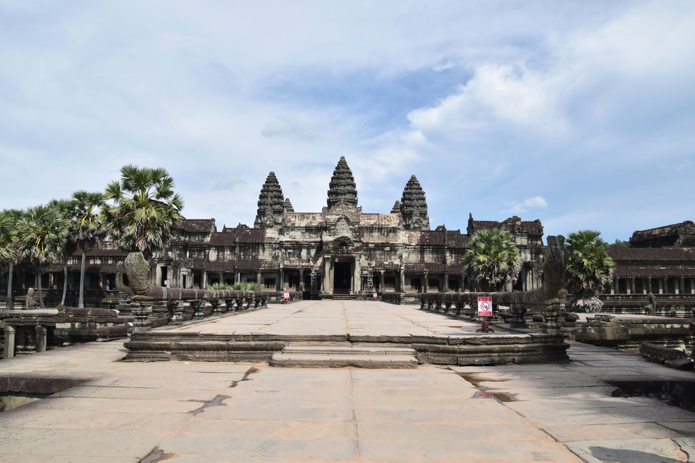 The main entrance to Angkor Wat
