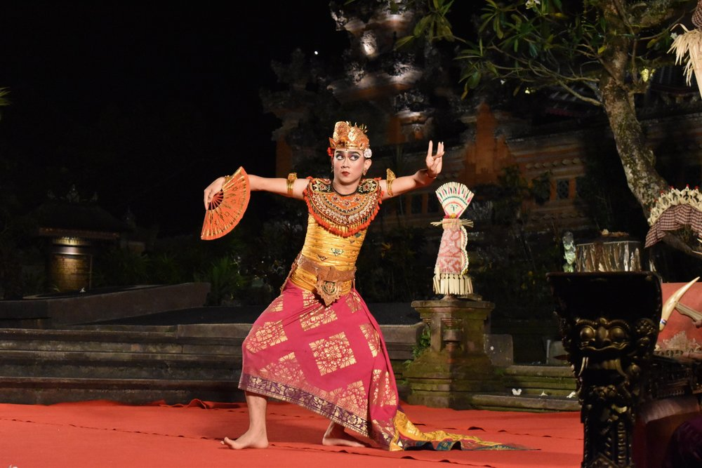 Balinese dance performance at Ubud's Water Temple