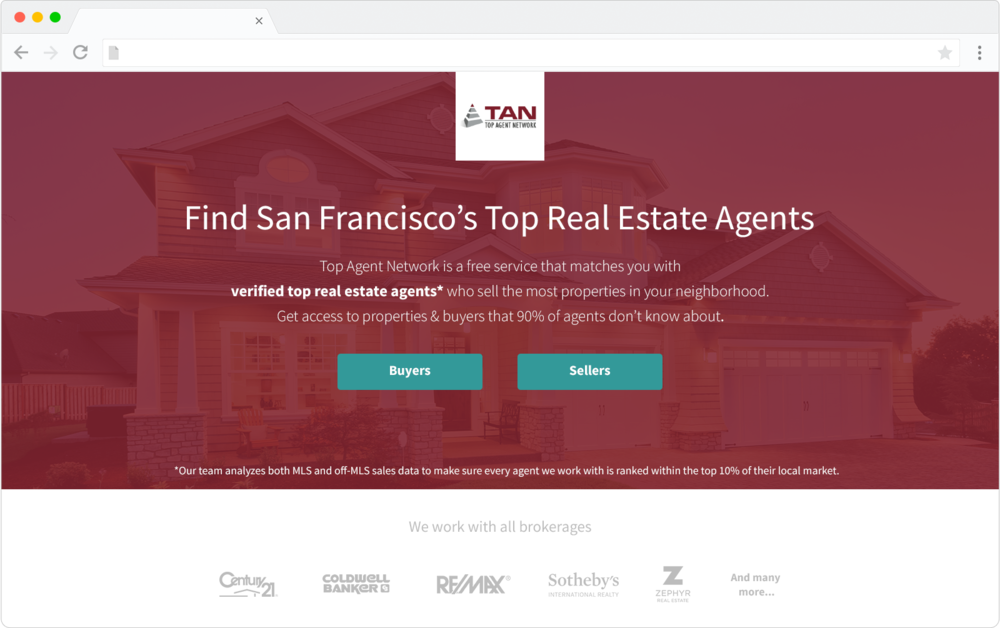Top Agent Network mockup design preview