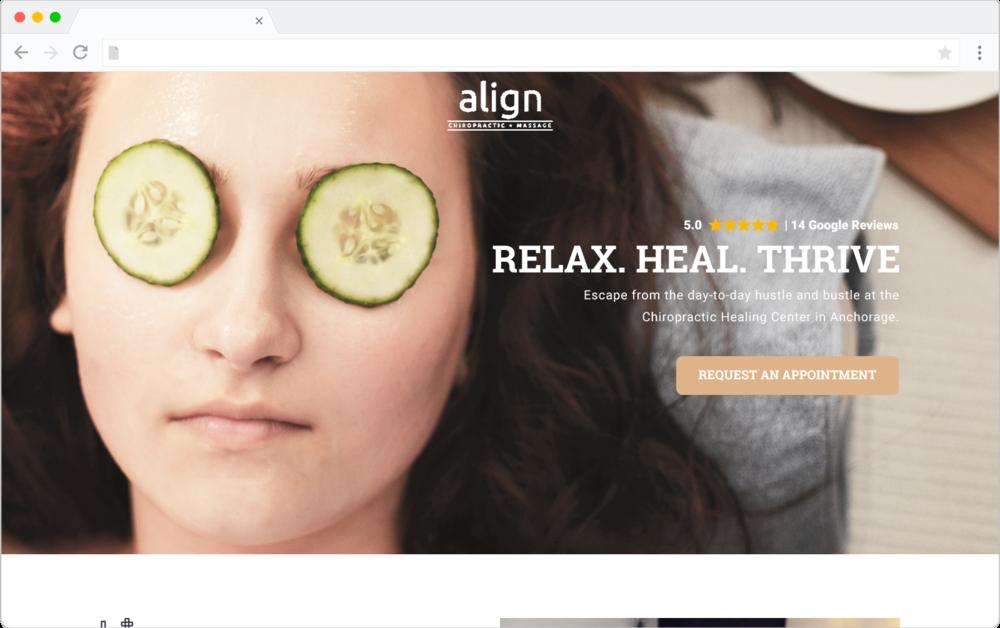 Align Chiropractic mockup design preview