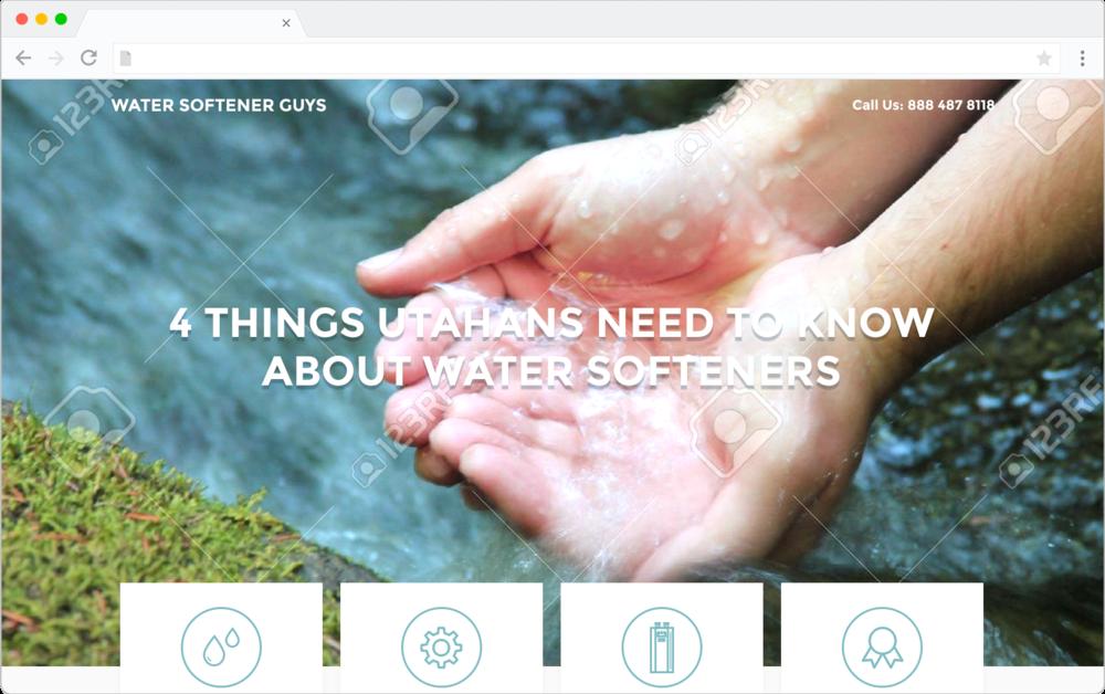 Water Softener Guys mockup design