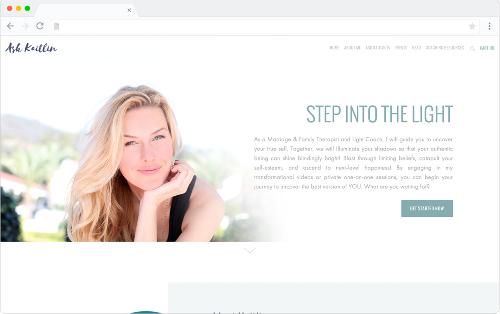 Ask Kaitlin Squarespace design preview
