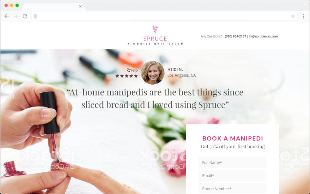 Spruce Mobile Nail Salon mockup design preview