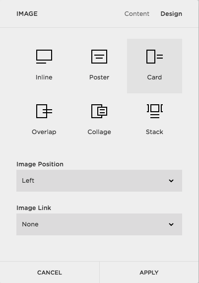 How to add a card in Squarespace