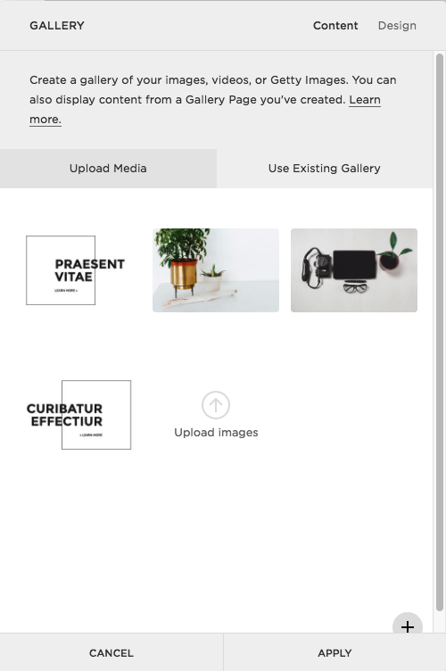 How to use the gallery block in Squarespace for creative layouts