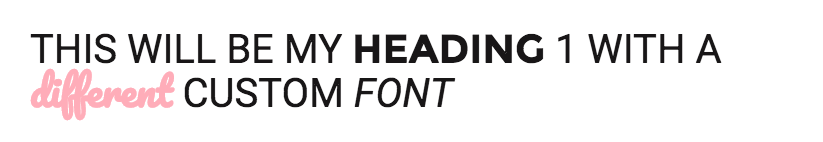 Using different fonts in the same heading in Squarespace.png