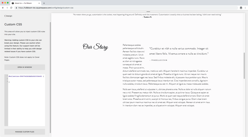 1. Target specific page in Squarespace through its ID.png