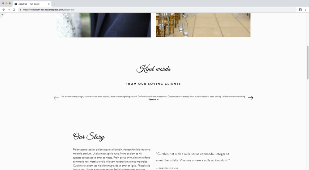 32. Changing arrows in carousel summary block Squarespace.png