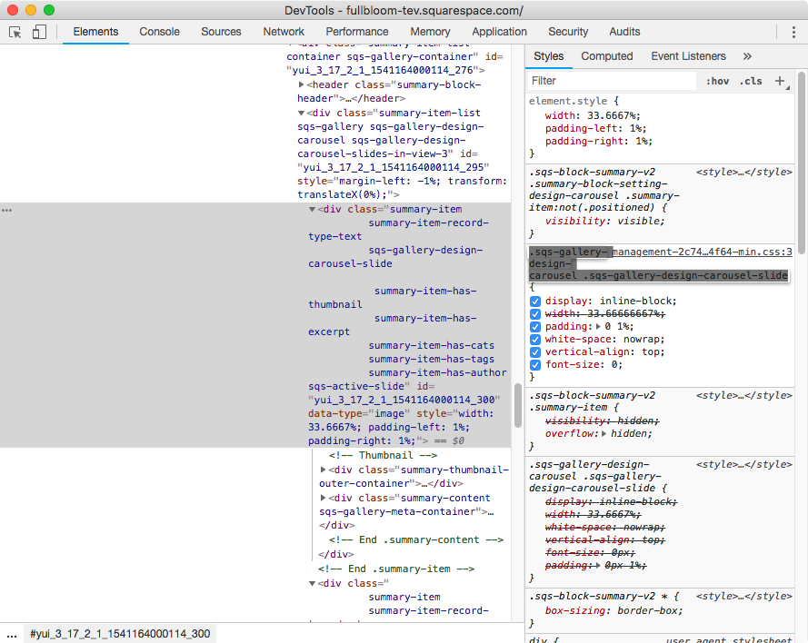 18. Targeting the slides inside summary block carousel.png