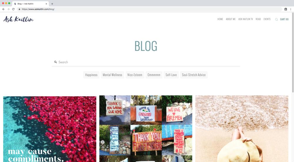 Custom blog post filter