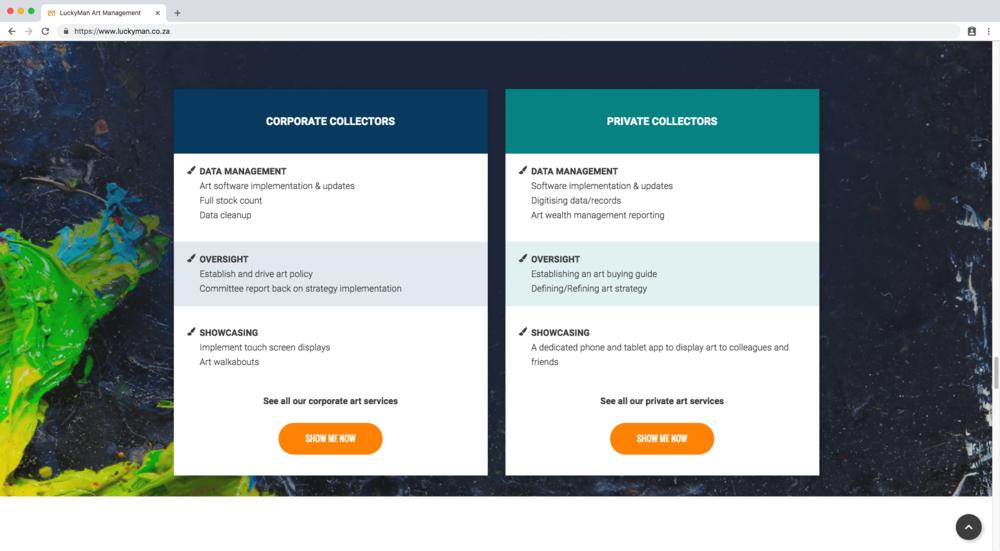 Customized image layout block