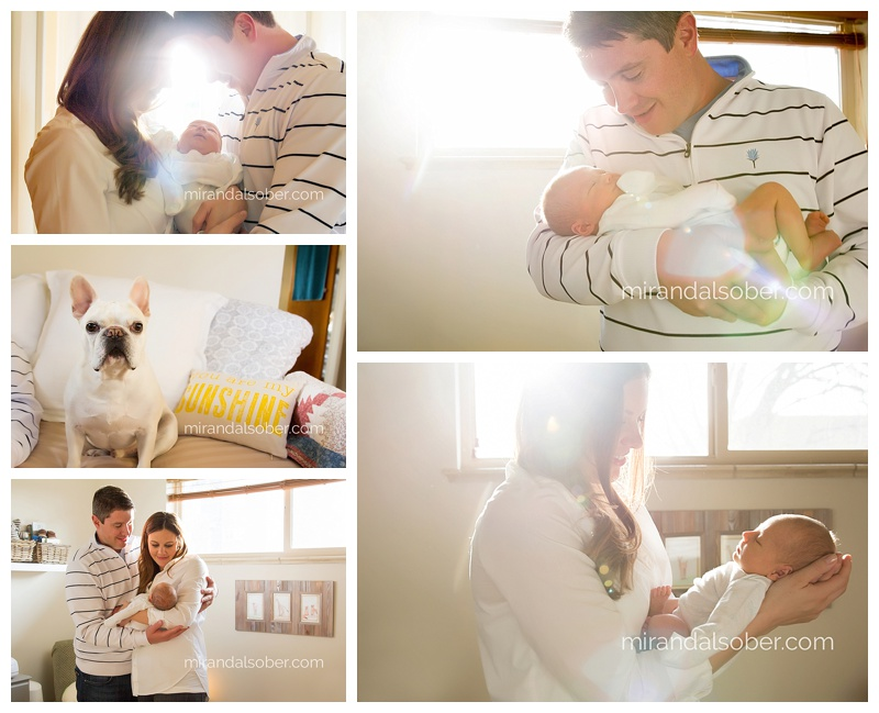 denver newborn photographer, Miranda L. Sober Photography, in-home lifestyle newborn session