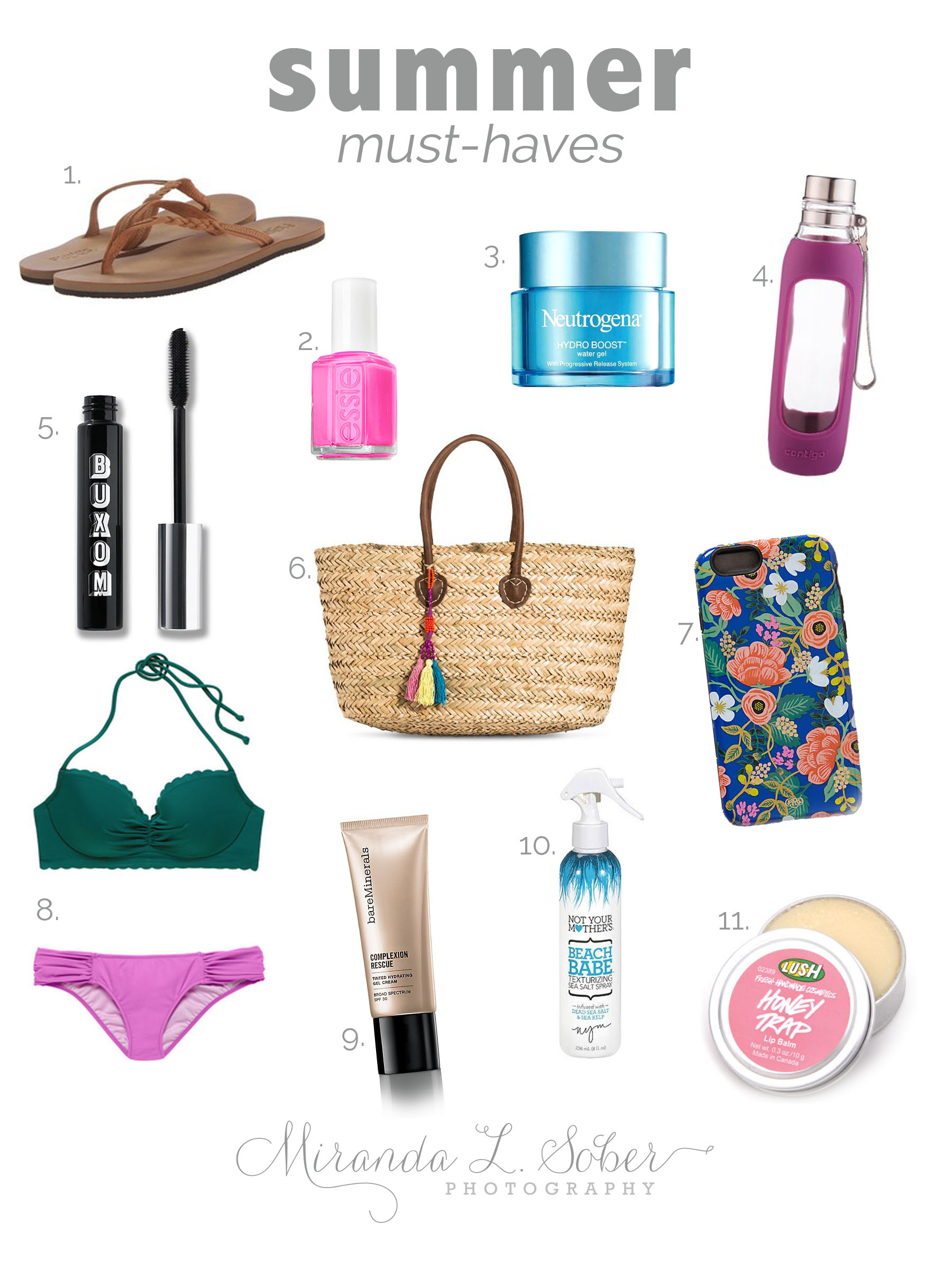 Summer Must Haves, Miranda L. Sober Photography, Fort Collins