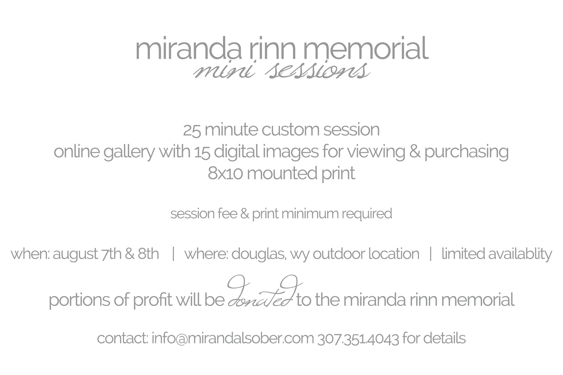 miranda l. sober photography, charity mini sessions