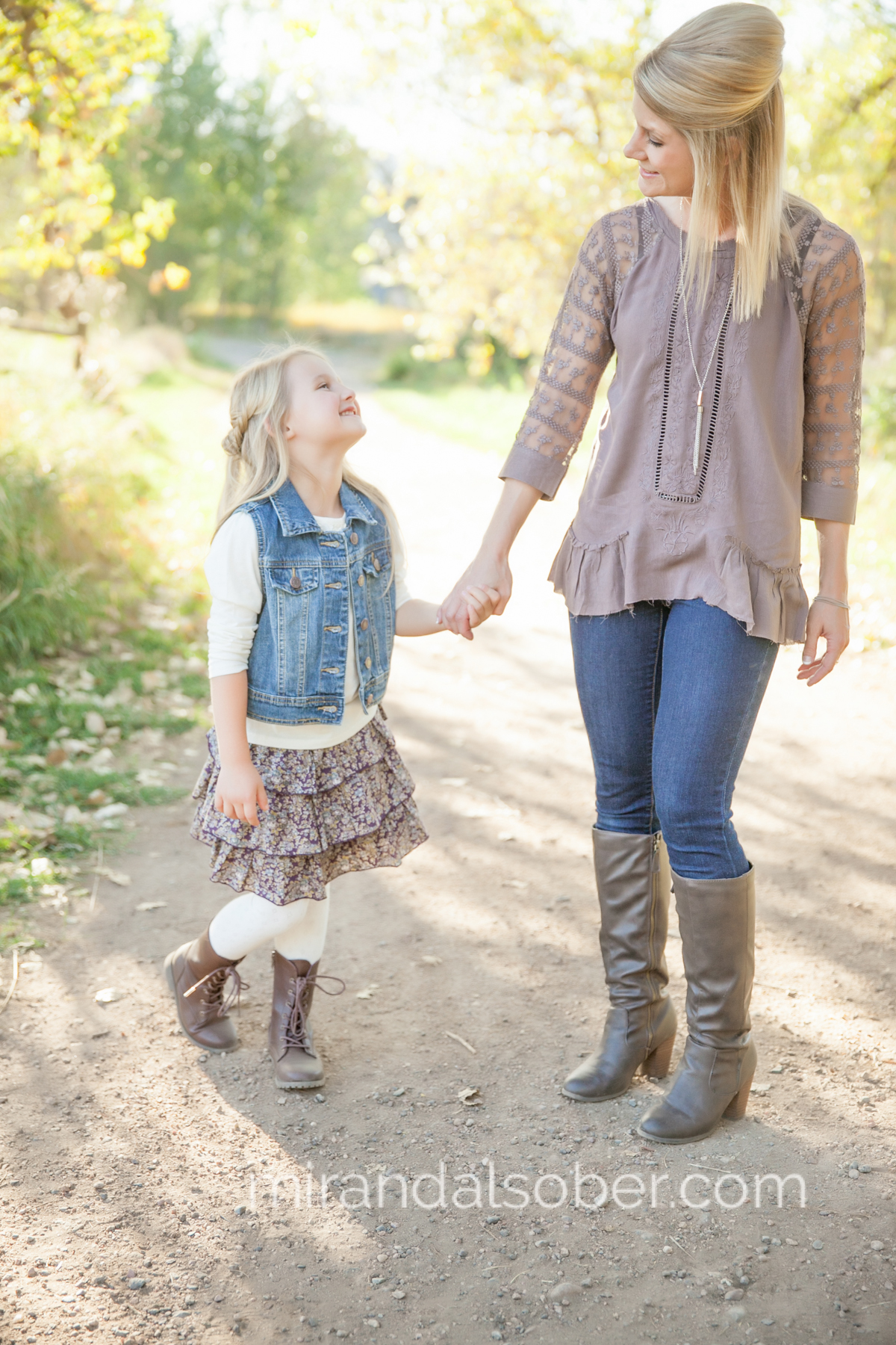 Mother daughter photos, Fort Collins family photographer, Miranda L. Sober