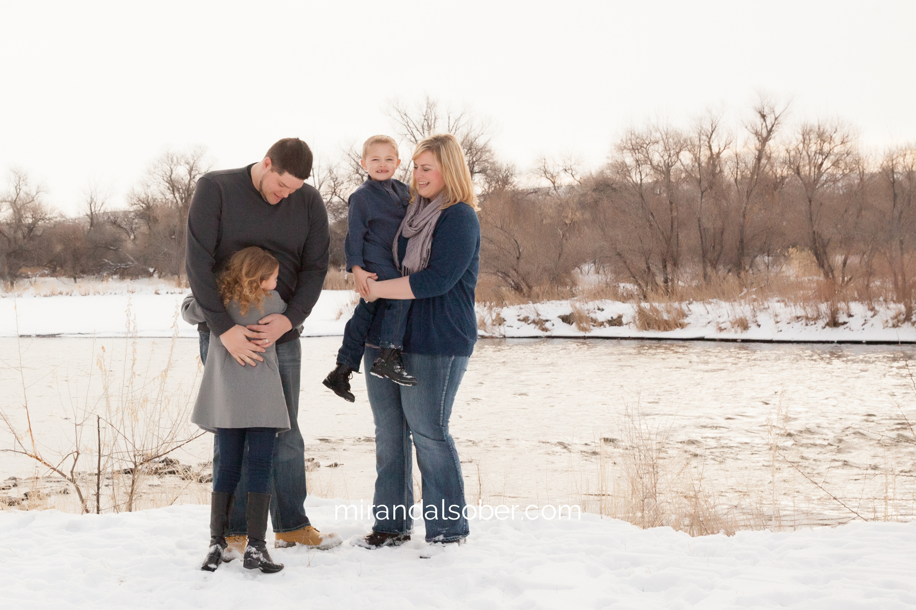 Family photographer Fort Collins, Miranda L. Sober Photography, winter family photos