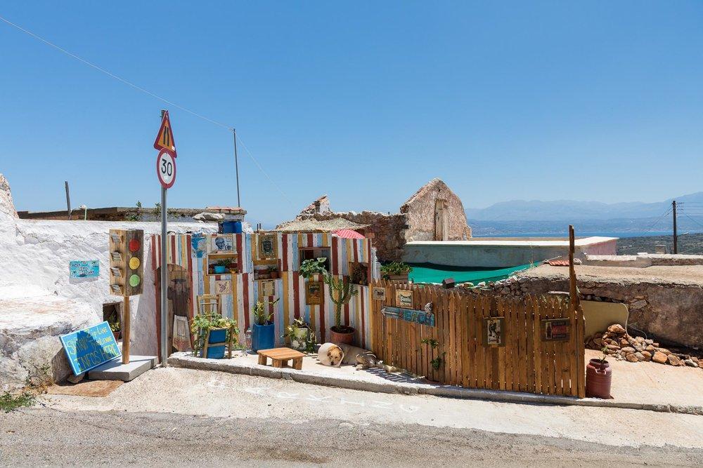 Cafe just before Seitan Limania, Crete