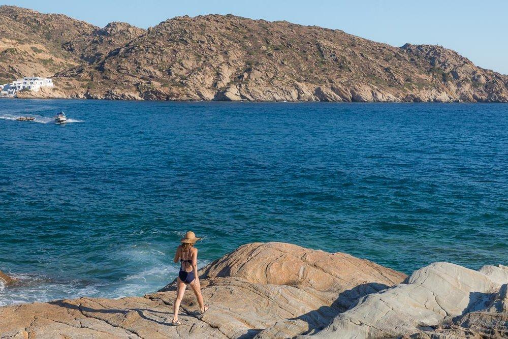Rocks by Mylopotas Beach, Ios
