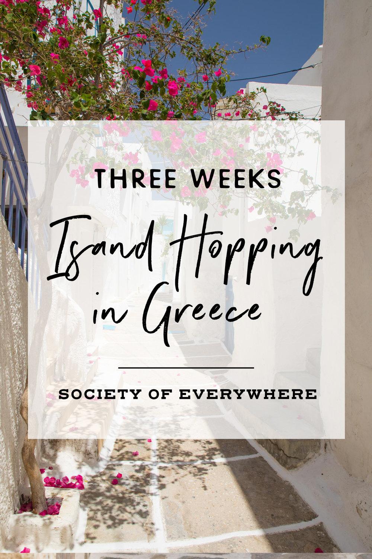 Three Weeks Island Hopping in Greece | Society of Everywhere